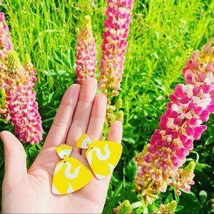 Yellow Submarine Dangles Acrylic Earrings